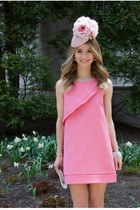 bubble gum Gina Foster hat - bubble gum Zara dress - ivory kate spade bracelet