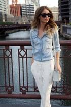 White Diamond Trousers & Denim