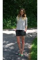 Michael Kors bracelet - Loft sweater - Forever21 shorts - vintage sunglasses
