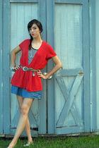 orange top - white Norma Kamali top - blue Forever 21 skirt - white Candies shoe