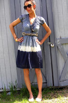 blue Ross dress - white Candies shoes - gold Forever 21 accessories - gold Goodw