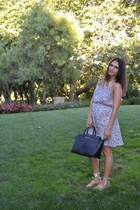 lucca couture dress - selma satchel Michael Kors bag - Oasis Sandal Co sandals