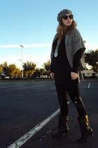 Forever 21 leggings - Old Navy sweater - H&M dress - my creation necklace