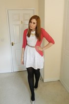 burnt orange Olivia Accessories necklace - white Pop Couture dress
