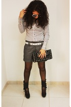 Stradivarius shirt - H&M shorts - Terranova belt - stockings - Terranova purse -