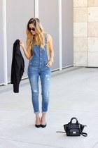 blue Charlotte Russe jumper - black Nine West heels
