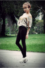 Light-brown-zara-top-dark-brown-forever-21-pants-eggshell-charles-keith-sh