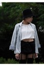 White-dude-the-duchess-top-navy-topshop-shorts-silver-cotton-on-blazer-b