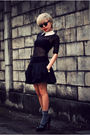 Black-american-apparel-dress-black-topshop-skirt-black-christian-louboutin-s