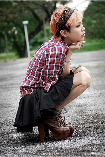 black tutu asos skirt - dark brown lita Jeffrey Campbell boots