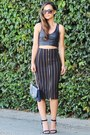Reptile-clutch-dailylook-bag-crop-top-zara-top-zara-skirt