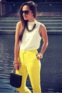Yellow-topshop-pants-cream-topshop-top-black-vince-camuto-heels