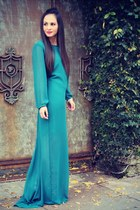 teal maxi Lulus dress