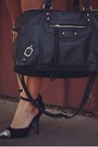 Black-h-m-dress-white-h-m-blazer-black-dailylook-bag