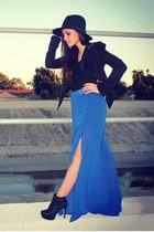 slit maxi Lush Clothing skirt - spiked Lush Clothing blazer