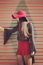 Black-bell-sleeves-for-love-and-lemons-top-crimson-floppy-hat-nasty-gal-hat