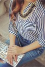 Navy-striped-blouse-charlotte-russe-top-blue-skinny-rich-skinny-jeans-jeans