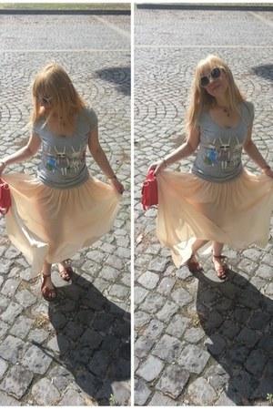 Zara sunglasses - Pimkie shirt - Avon bag - Zara skirt