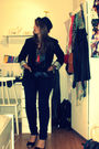 Black-bikbok-blazer-blue-vero-moda-pants-black-cubus-top-black-h-m-shoes-