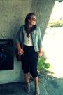 Black-cubus-pants-blue-warehouse-jacket-brown-accessories-beige-dinsko-sho