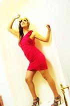 hot pink fucsia dress