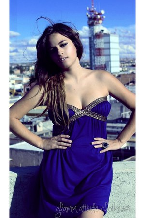 blue famosa dress
