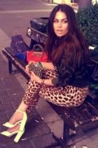 Zara shirt - Alexander McQueen bag - Zara heels - Zara pants
