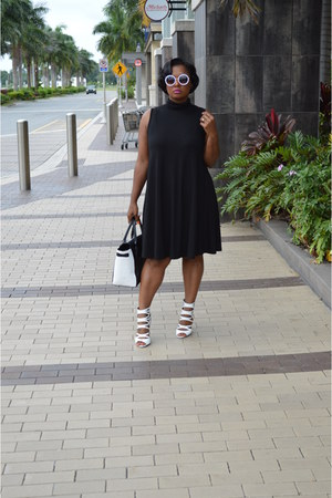 swing asoscom dress - white booties heels
