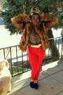 Brown-fur-coat-h-m-coat-yellow-scocks-h-m-socks
