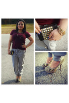 Forever21 top - Forever21 pants - Famous Footwear heels
