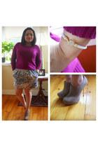 Forever21 ring - JCPenney sweater - Forever21 heels - InPink bracelet