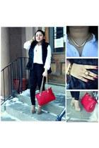 Forever21 vest - Zara leggings - Charlotte Russe shirt - Forever21 heels