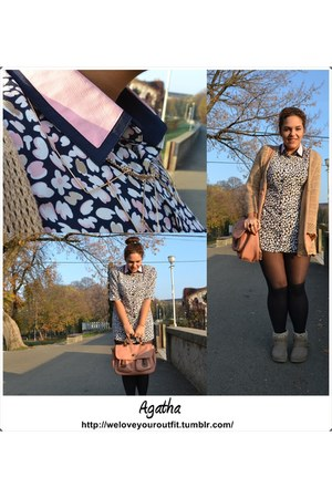 pink New Yorker bag - Tally Weijl shoes - golden H&M necklace