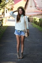 Urban Outfitters shorts - Zara sweater