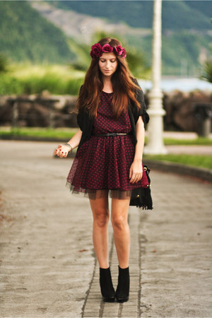 crimson Love dress - brick red asoscom accessories