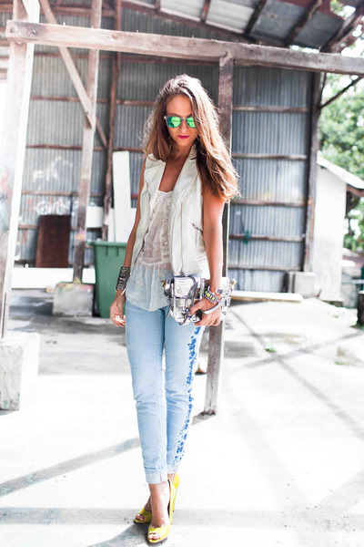salsa jeans - Zara top