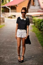 romwe top - Topshop shorts