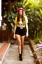 Topshop shorts - romwe t-shirt