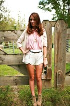 Sheinside shorts - Sheinside blouse