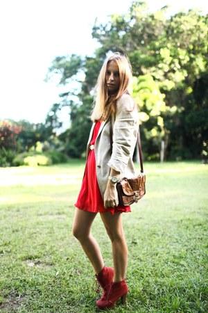 Topshop dress - Zara jacket