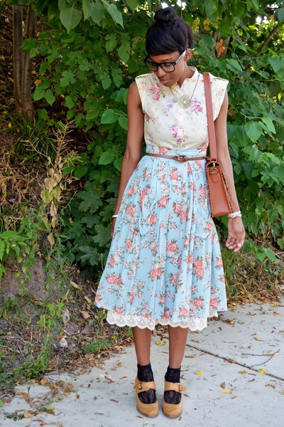light yellow floral print Moon Collection dress