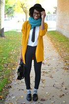 mustard wool long line Choies blazer - black Tobi jeans