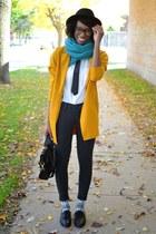 mustard wool long line Choies blazer - black Tobi jeans