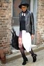 Black-thrifted-boots-white-thrifted-dress-black-til-darling-jacket