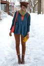 Dark-brown-levis-jeans-carrot-orange-jollychic-sweater
