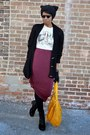 Maroon-maxi-thrifted-skirt-olive-green-oversized-parka-jollychic-jacket