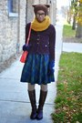 Dark-brown-thrifted-boots-mustard-chicnova-sweater