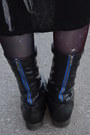 Black-bamboo-boots-light-purple-romwe-galaxy-thrifted-leggings