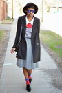 Silver-houndstooth-thrifted-vintage-dress-black-jollychic-coat