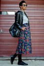Light-brown-theme-dress-black-til-darling-jacket-black-vj-style-bag